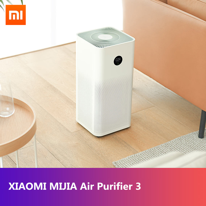 Original XIAOMI MIJIA Air Purifier 3 Sterilizer Addition To Formaldehyde Wash Cleaning OLED Display HEPA Filter Smart Control