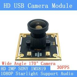 Poziom światła Starlight niskie oświetlenie 30fps 2MP kamera monitorująca 1080P MJPEG szybki SONY IMX819 Linux UVC moduł kamery usb