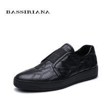 BASSIRIANA 2019 spring and summer new mens casual shoes fashion trend comfortable black free shipping