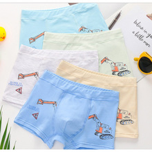 new free shipping high quality boys cotton boxer shorts panties kids character children underwear 1-12years old 5pcs/lot