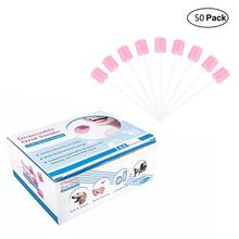 50 Pcs/box Disposable Oral Sponge Penyeka Tanpa Rasa Mulut Bersih Gigi Swabsticks(China)