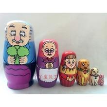 Pack von 6 Pcs Nette Holz Tiere Hand Gemalt Russian Nesting Dolls Babuschka Matryoshka Puppen Spielzeug Geschenke Hause Dekoration
