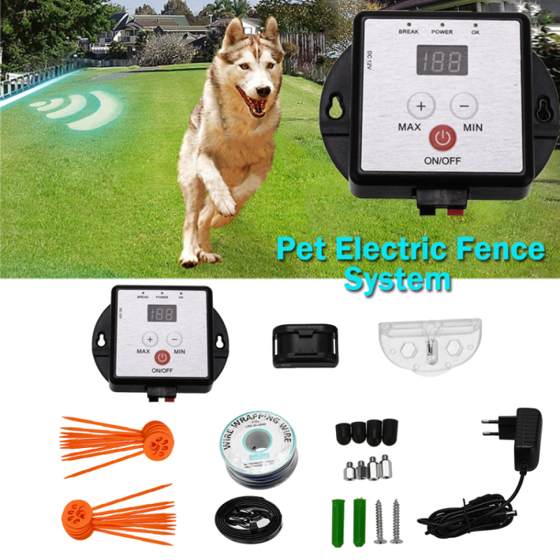 Pet Electric Fence System Safety Innovation Electronic Dog Supplies Invisible Receiver Training Collar Pet Anti-lost Home Lawn