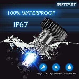 Image 2 - Infitary H4 H7 مصابيح ليد لمصابيح السيارة الأمامية 16000Lm 6500K ZES رقائق السيارات الجليد مصباح للسيارات H1 H3 H11 H13 H27 9005 HB3 HB4 الضباب أضواء