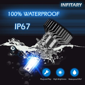 Image 2 - Infitary H4 H7 Led פנס נורות 16000Lm 6500K ZES שבבי אוטומטי קרח מנורת עבור מכוניות H1 H3 H11 H13 h27 9005 HB3 HB4 ערפל אורות
