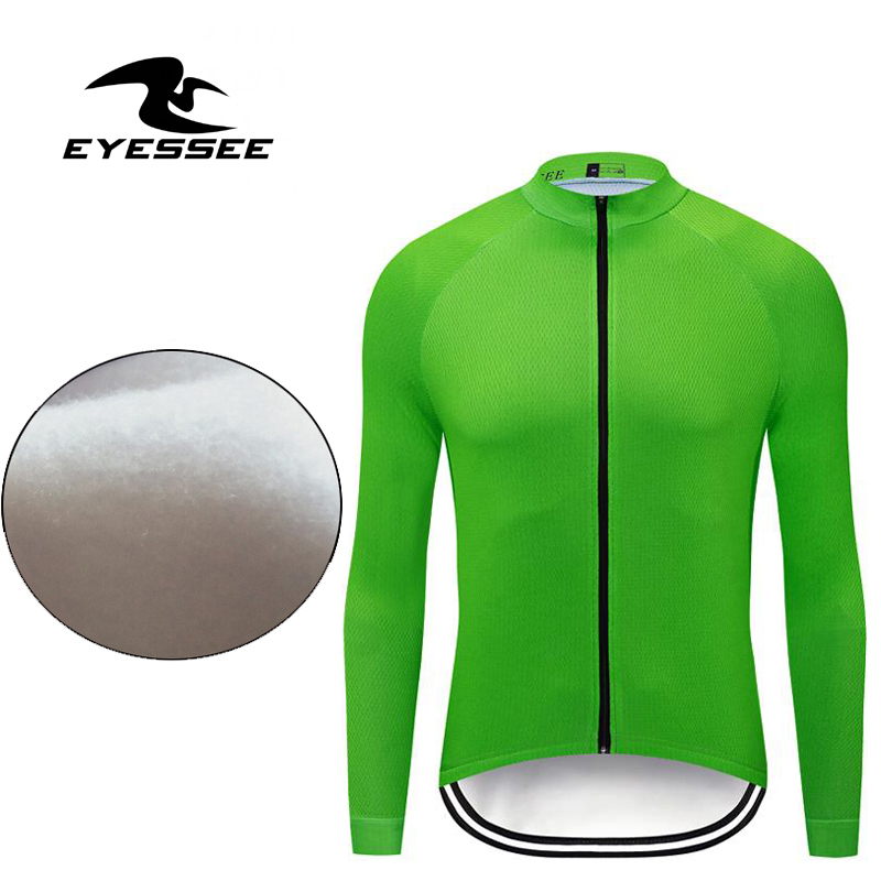 Cycling-Jerseys Bicycle Ciclismo Long-Sleeves Fleece Mtb-Ropa Winter Yes Eyessee 12-Colors