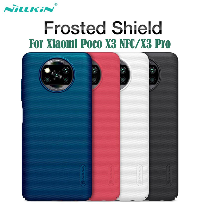 Чехол для Xiaomi Poco X3 NFC, чехол Poco X3 Pro, матовый защитный чехол Nillkin, жесткий защитный чехол из поликарбоната, задняя крышка для Xiaomi Poco X3 nfc