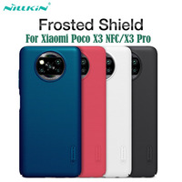 Para Xiaomi Poco X3 NFC Funda Poco X3 Pro Funda Nillkin Frosted Shield Funda protectora rígida para PC Funda trasera para Xiaomi Poco X3 nfc