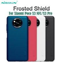 Dla Xiaomi Poco X3 NFC Case Poco X3 Pro pokrywa Nillkin matowe etui ochronne twardy PC Protector tylna pokrywa dla Xiaomi Poco X3 nfc