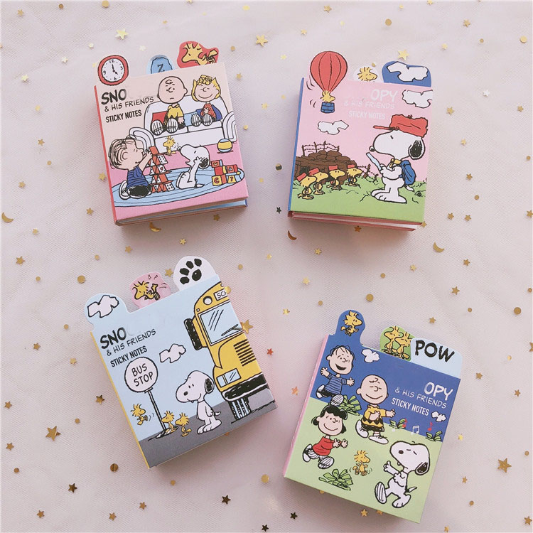 Ins Creative Cartoon Puppy Sticky Note Student Planner Stickers Memo Pad Note Book Kawaii Message Paper Korea School Stationery