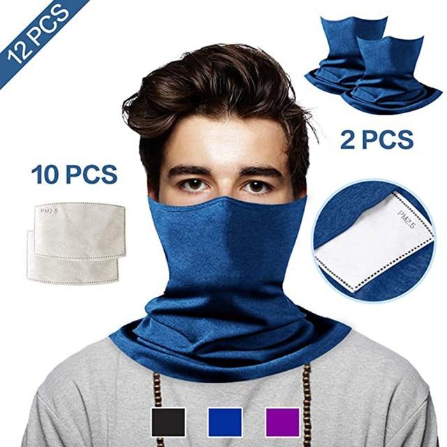 2pcs unisex face mouth mask washab