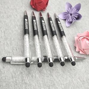 Image 4 - 200 pz/lotto da sposa su misura data in Diamante penna di tocco il vostro regalo di nozze personalizzati
