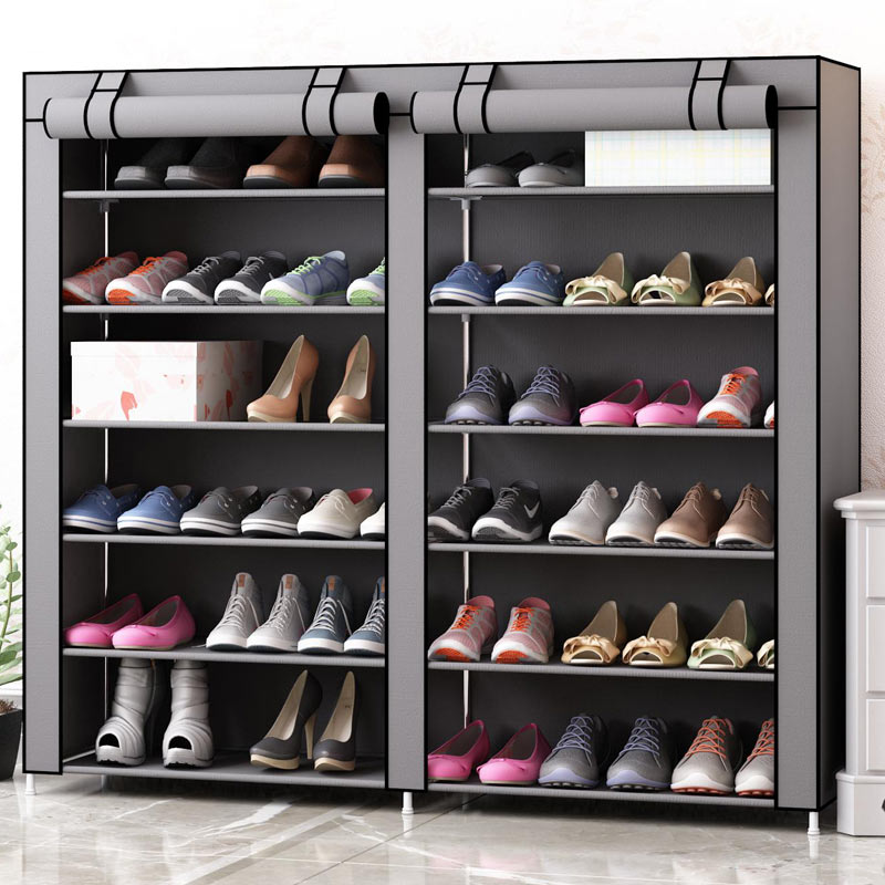 Nonwoven Fabric Dustproof Shoe Cabinet Space-saving Shoe Organizer Easy To Install DIY Storage Shoes Furniture Home Shoe Rack