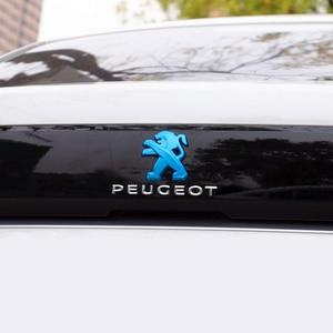 Image 4 - 2Pcs Auto Styling für Peugeot Logo 408 2019 308 4008 508L 2019 ABS Auto Kühlergrill Abzeichen Hinten Emblem aufkleber Dekoration