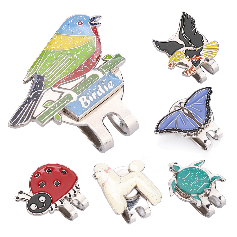 1pcs Golf Ball Marker High Quality Stainless Steel Butterfly Hawk Dog Bird With Magnetic Cap/Hat Clip Clamp For Golfer New Gift