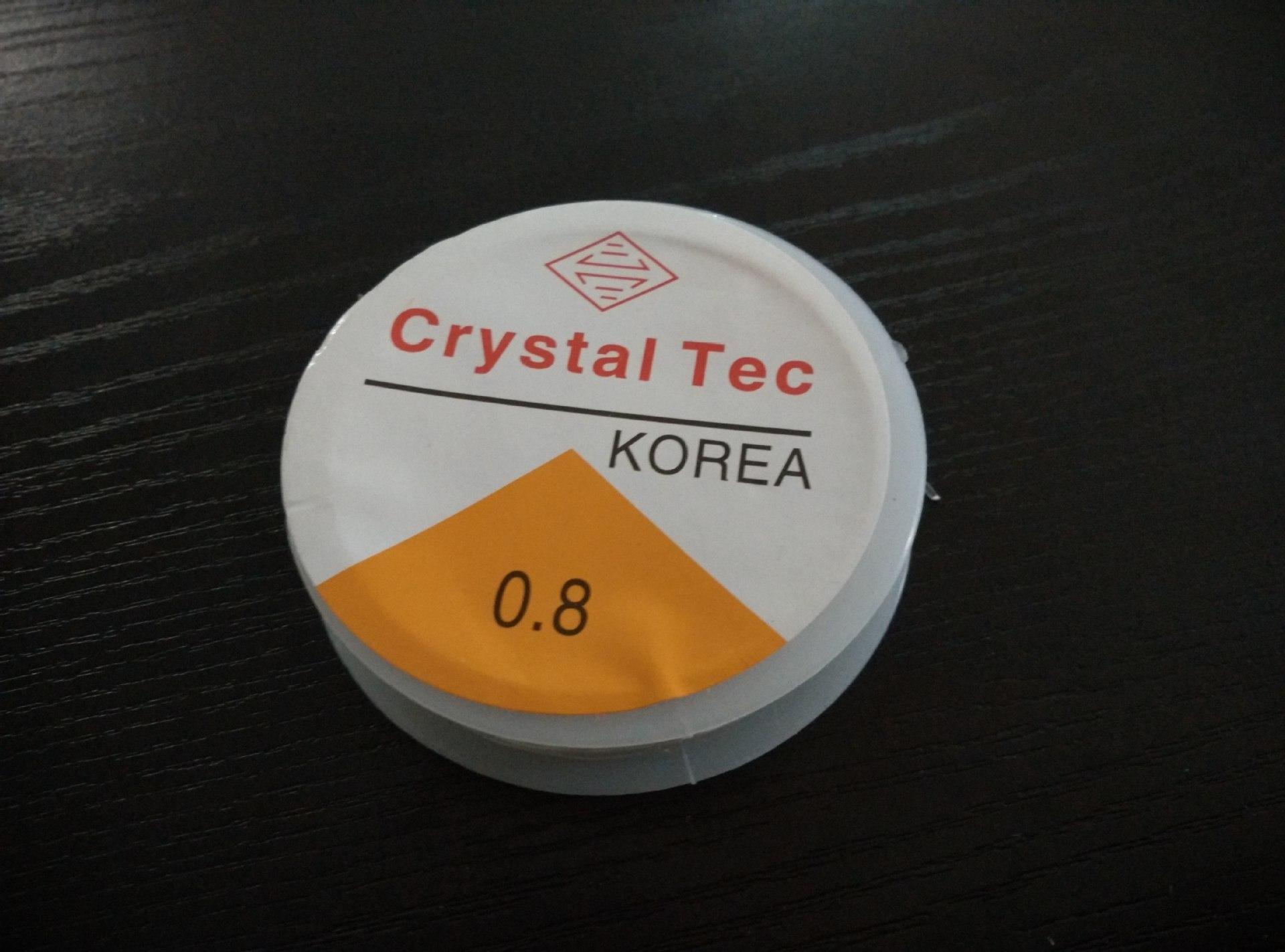 DIY Beaded Bracelet Cord Import Crystal Elastic Line 0.8 Mm Thread With Bead 10 M Long Elastic String
