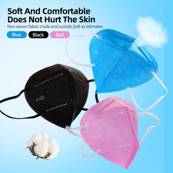 Multicolor Adult 5 Layers KN95 Face Mask KN95 Mascarilla Respirator Fabric Face Mask KN95 Filter Masks Mouth Dustproof Reuseable