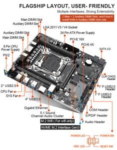 Image 4 - Kllisre X99เมนบอร์ดชุดXeon E5 2620 V3 LGA2011 3 CPU 2Pcs X 8GB = 16GB 2666MHz DDR4หน่วยความจำ