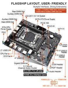 Image 4 - Комплект материнской платы Kllisre X99 с Xeon E5 2620 V3 LGA2011 3 CPU 2 шт. X 8 ГБ = 16 Гб 2666 МГц DDR4 память
