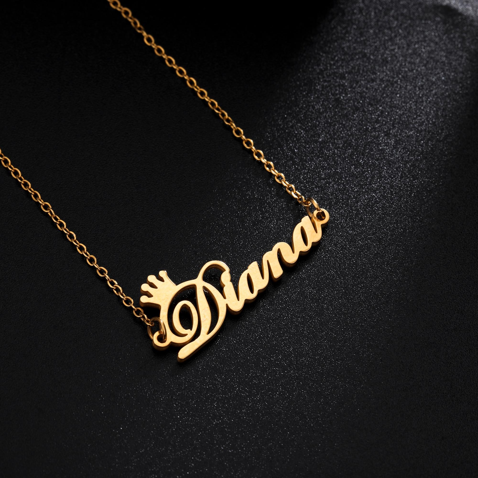 Женское ожерелье с подвеской Sipuris, золотая цепочка из нержавеющей стали с именем короны на заказ, ювелирные изделия