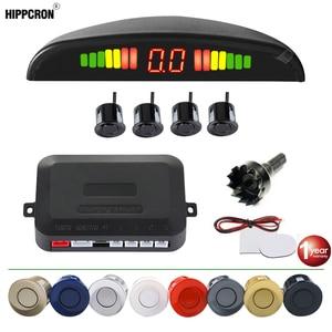 Parking Sensor Car Parking Kit LED Display 4 Sensors 22mm Backlight Reverse Backup Radar Monitor System 12V 8 Colors