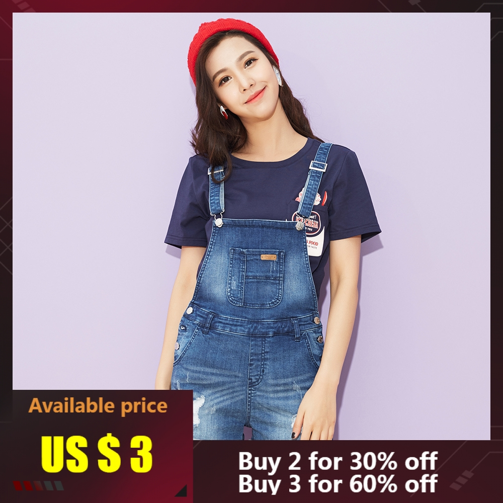 Denim Shorts Jeans Metersbonwe High-Waist Fashion-Brand Strap Female Casual Summer New