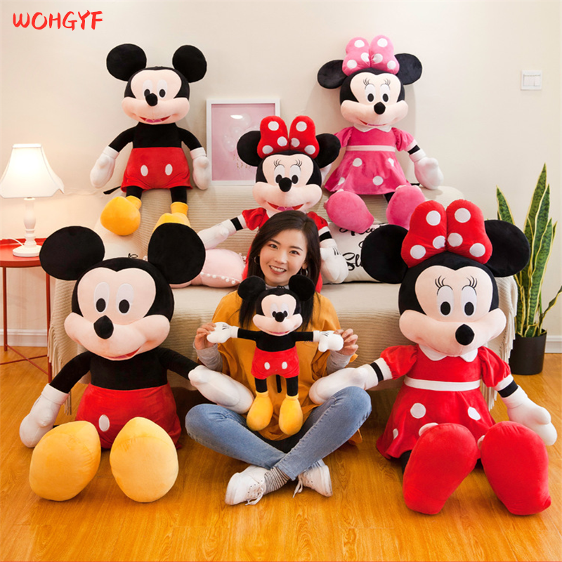 40-100cm Hot Sale High Quality Stuffed Mickey/&Minnie Mouse Soft Plush Toy