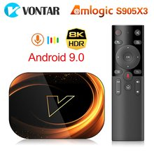 2020 VONTAR X3 8K Amlogic S905X3 4GB RAM 64GB TV kutusu Android 9.0 Set Top Box çift wifi 4K Youtube akıllı TV kutusu 4G 32G