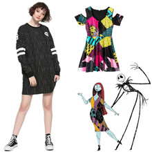 Skater Dresses Christmas-Dress Skellington Nightmare Party Casual Jack Before Daily WXC