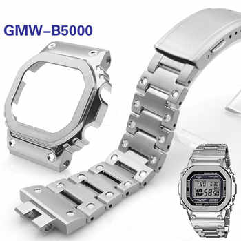 Watchband and Bezel for GMW-B5000 High Quality 316L Stainless Steel Watch Bracelet and Case Cover Metal Strap Steel Belt Tools - DISCOUNT ITEM  65% OFF All Category