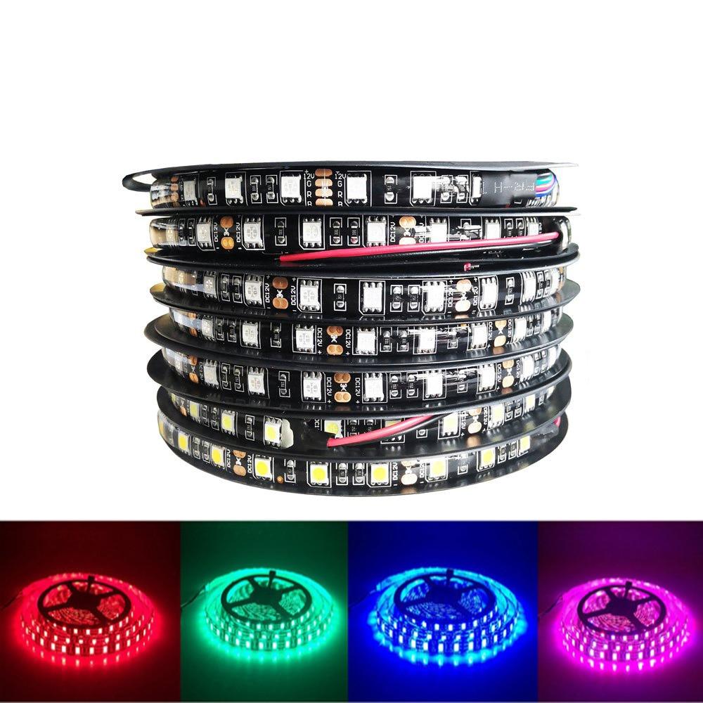 Led Strip 5050 RGB Lights DC12V Flexible Home Decoration Lighting Waterproof Led Tape RGB/White/Warm White/Blue/Green/Red/Yellow