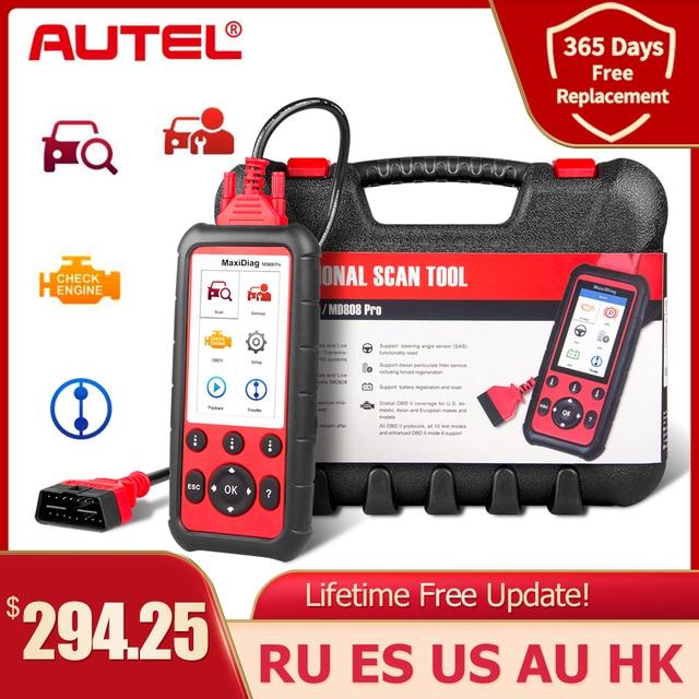 Autel MaxiDiag MD808Pro Diagnostic Tool, MD808 Pro Obd2 Scanner Engine Transmission SRS ABS EPB Oil Reset DPF SAS BMS (VS MK808)