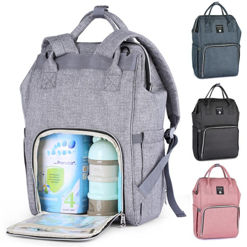 Waterproof Mummy Maternity Nappy Bag USB Charging Large Capacity Nappy Bag Travel Backpack Nursing Bag For Baby Care