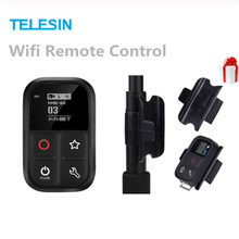 купить TELESIN Wifi Remote Control with Charger Cable Wrist Strap 80M Waterproof Remote Shutter for Gopro Hero Black 7 6 5 3 Accessory по цене 2326.49 рублей