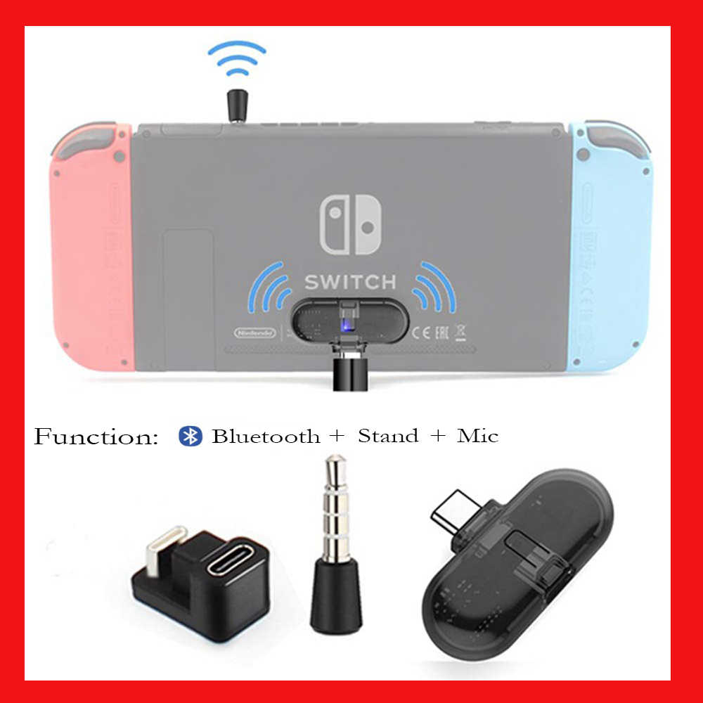 Rute + Pro Bluetooth Transmitter Audio Usb-C Adaptor untuk Nintendo Switch/ Lite Latency Rendah Receiver Transmisi Suara nirkabel