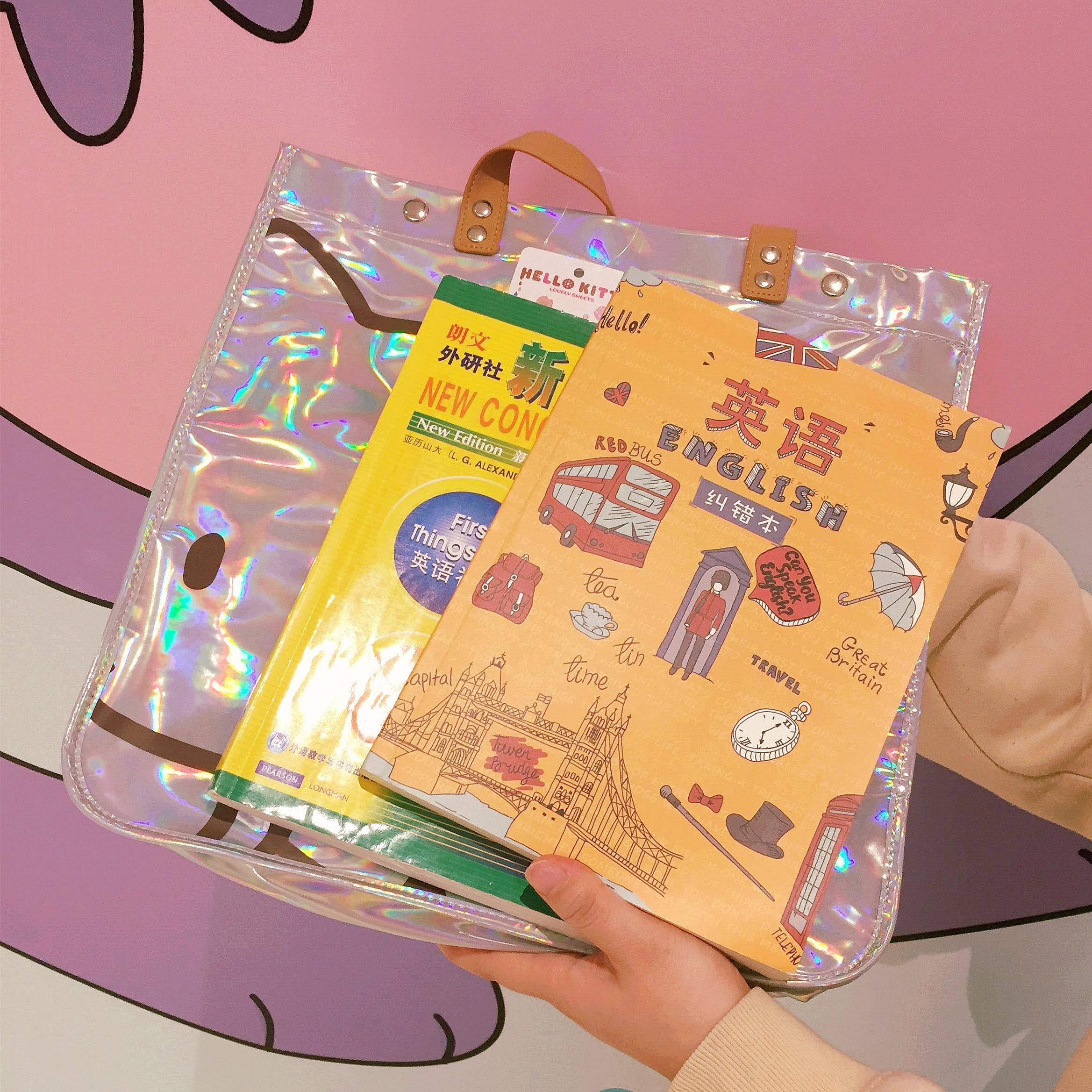 Femmes sac à main Kitty chat éblouissement Laser épaule sac à main imperméable à l'eau grands sacs de créateurs femmes en cuir PU sacs à main et sacs à main de mode - 3