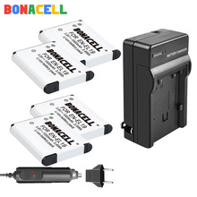 цена на Bonacell ENEL19 EN-EL19 for Nikon Battery + Charger for Nikon Coolpix S32 S33 S100 S2500 S2750 S3100 S3200 S3300 S3400 S3500