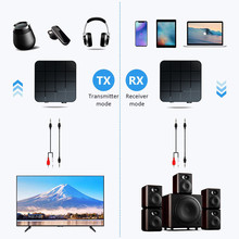 VIKEFON Bluetooth 5.0 Audio Receiver Transmitter AUX RCA 3.5MM 3.5 Jack USB Music Stereo Wireless Adapters For Car TV PC Speaker