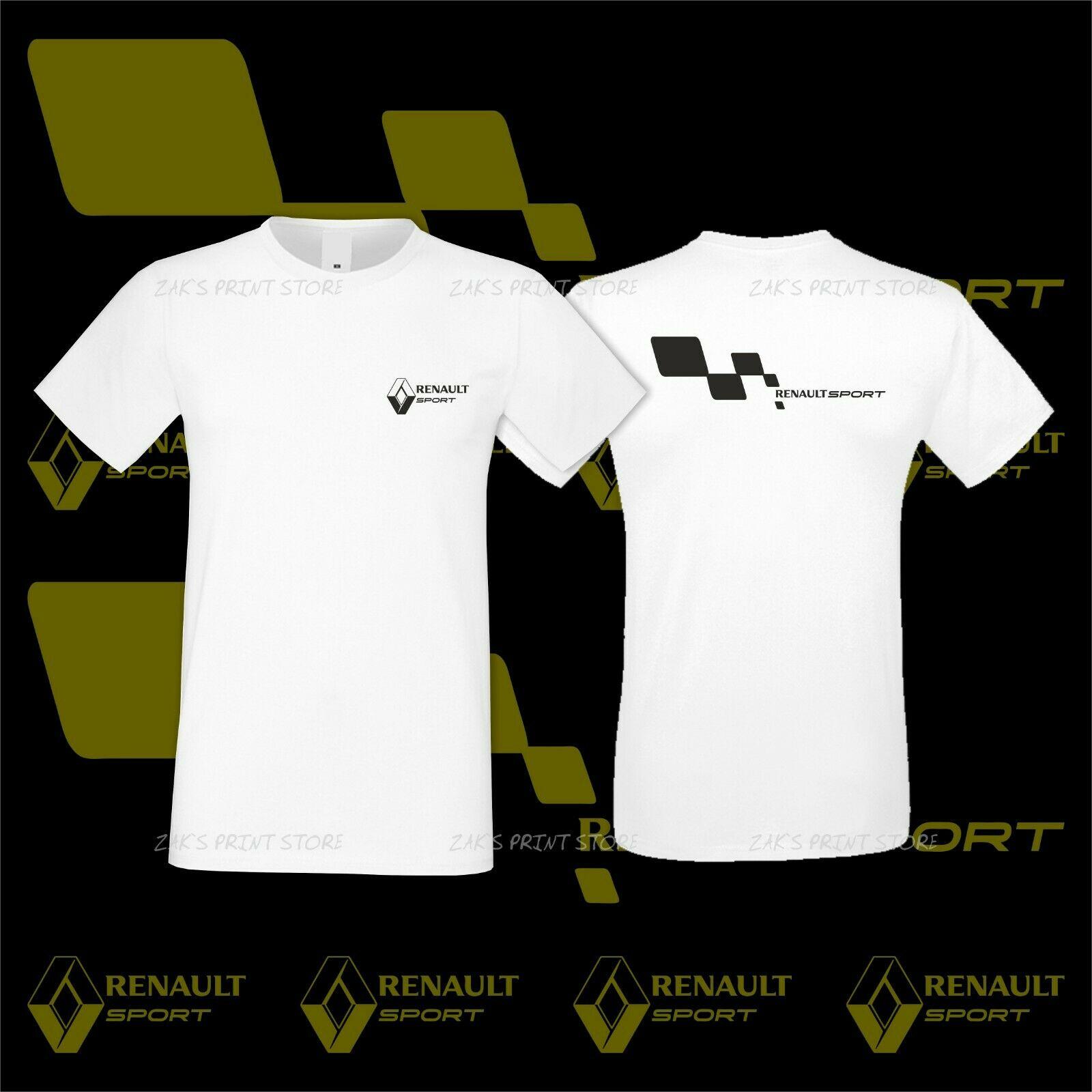 Renault Sport Logo Auto Tshirt Emblem Car Moto Men Premium Cotton Unisex Racing Tee Size S-3Xl