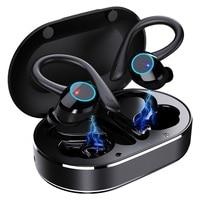Auriculares TWS inalámbricos por Bluetooth, cascos con Control táctil y micrófono, deportivos, impermeables, estéreo 9D