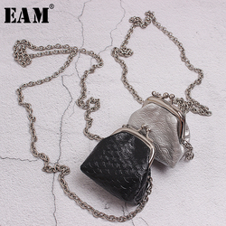[EAM]  Women Mini-bag Chain Split Joint Long Necklace New Temperament Fashion Tide All-match Spring Autumn 2020 19A-a351