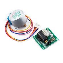 28byj-48 motor de passo, 5v 4 fase dc engrenagem placa de driver para arduino kit diy