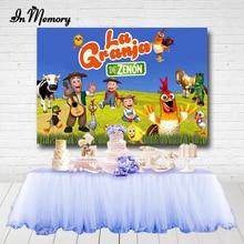 InMemory La Granja De Zenón Backdrops Boys Newborn Baby shower Birthday Party Photocall Farm Photography Backgrounds Custom