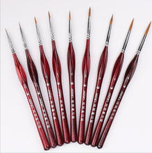 Leidea 9Pcs Ink Brush Professional Fine Hand-painted Pen Round Tip Watercolor Drawing Painting Brush Pen Art Supplies Gift Set все цены