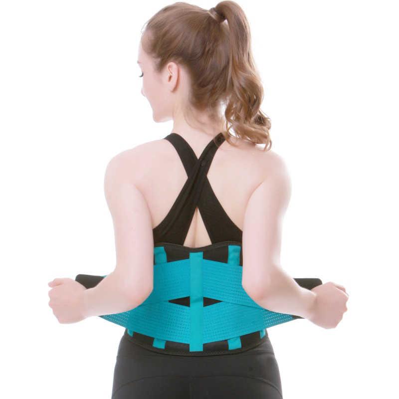 Mannen Elastische Corset Terug Lumbale Brace Ondersteuning Riem Taille Vrouwen Orthopedische Houding Corrector Lage Rug Riem Taille Ondersteuning Grootte XX