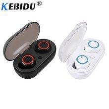 Kebidu TWS Bluetooth 5,0 auriculares bajos auriculares con micrófono para juegos de teléfonos móviles para Xiaomi Airdots iPhone Samsung
