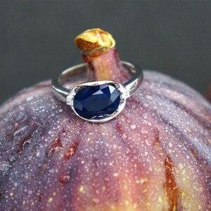 Image 2 - GEMS balet nowy 3.24Ct naturalny błękitny szafir pierścienie prawdziwe 925 Sterling Silver klasyczny owalny pierścień dla kobiet rocznica fajny prezent