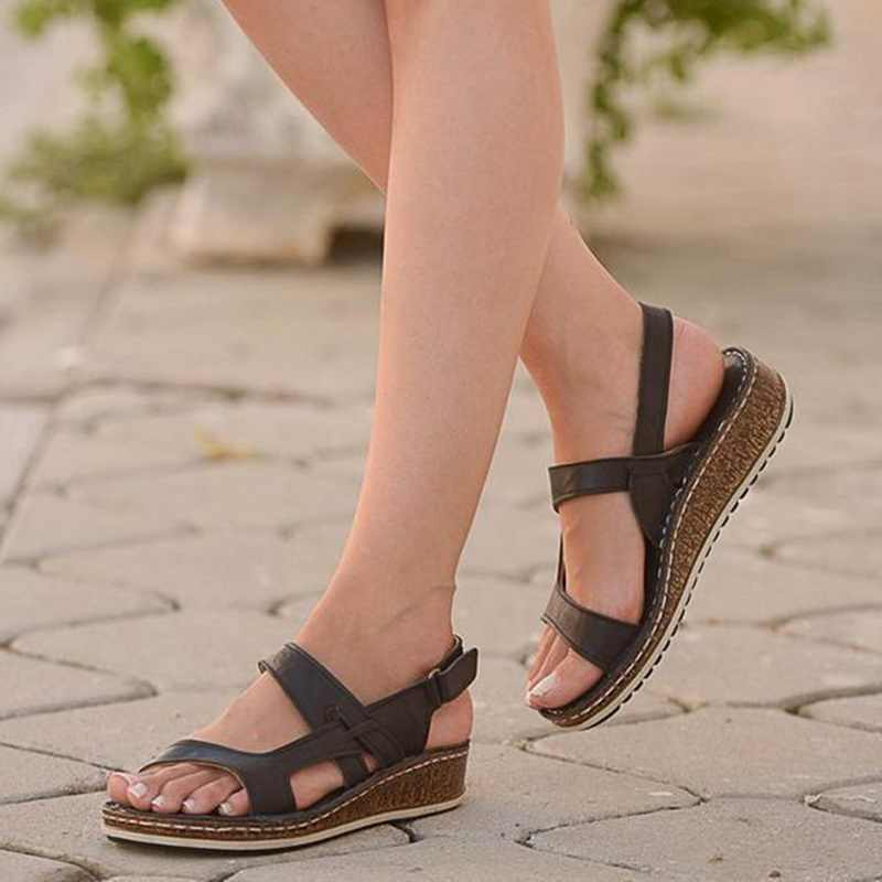WENYUJH nieuwe zomer vrouwen sandalen 3 Kleur stiksels sandalen dames open teen casual schoenen Platform wedge slides strand schoenen