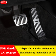 Pedal-Cover CX30 Metal Accelerator-Brake Mazda FOR Refitting Non-Slip of Special
