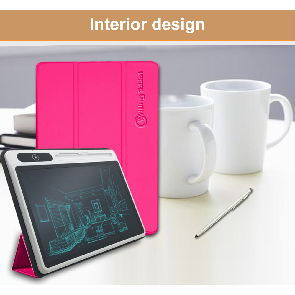 10 Inch Clock Calendar LCD Writing Tablet Electronic Digital Graphic Drawing Weather Pad Temperature Humidity Display